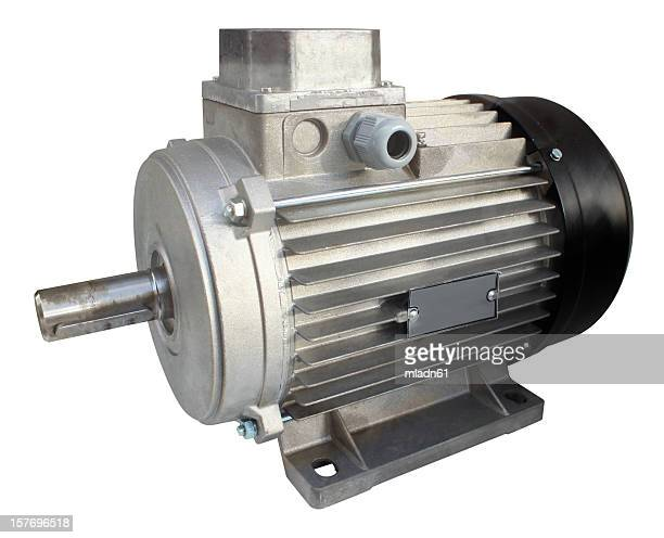 Electric motor on white background