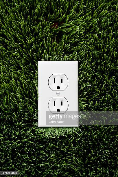 Electric outlet in grass