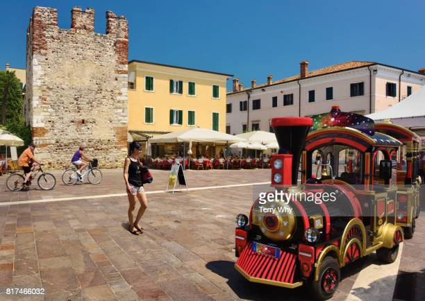 Electric powered tourist train.Bardolino,Lake Garda,Italy.