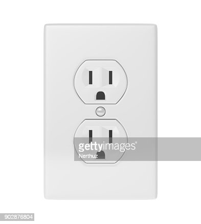 Electric Socket Isolated : Stock Photo