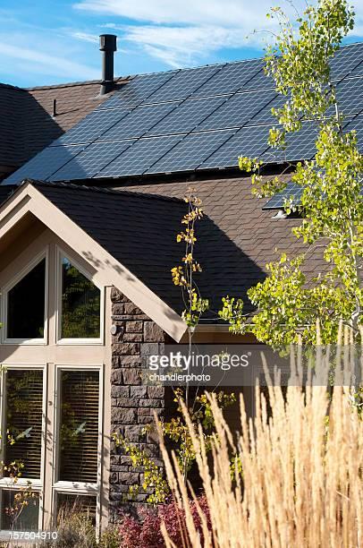 Electric solar-panel, home, Außenansicht
