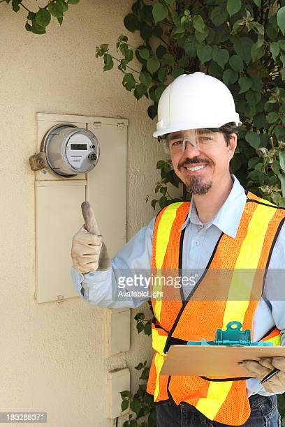 Electric Technician and Digital Smart Meter