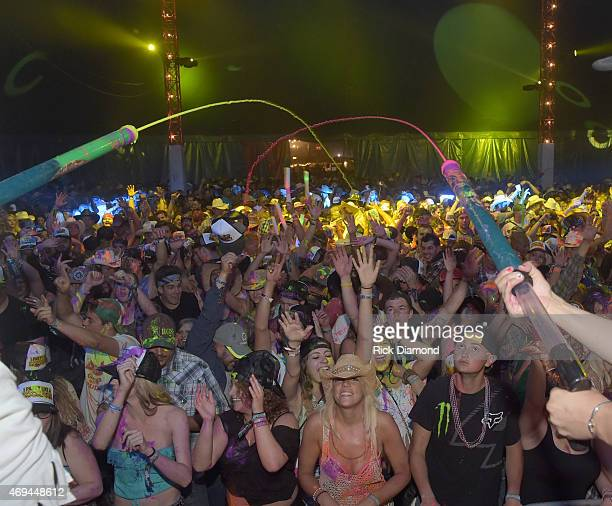 Electric Thunder 2015 Neon Rage Paint Party with DJ DU during Country Thunder USA Day 3 on April 11 2015 in Florence Arizona