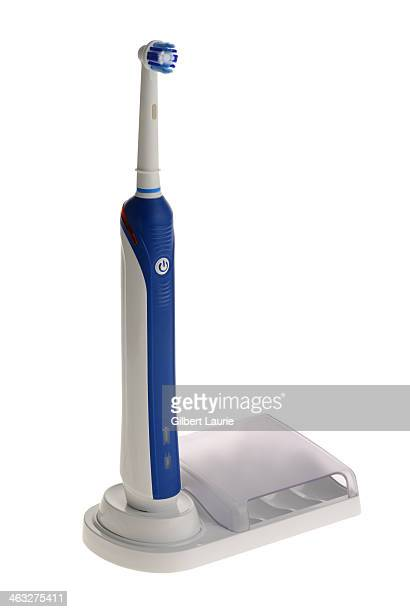 Electric toothbrush on a white background
