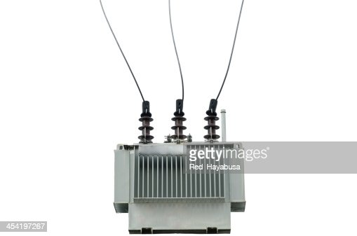 electric transformador : Foto de stock