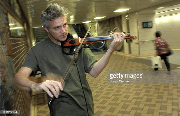 Electric violinist Rick Hyslop busks in the Yonge and Dundas subway station Hyslop has busked throughout the world with stops in Spain England and...