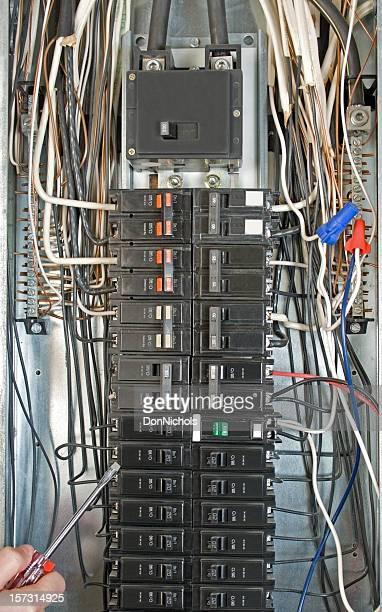 Elektrische Breaker Box Nahaufnahme