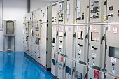 Electrical control cabinet. Electrical power. Motor control. Temperature control.