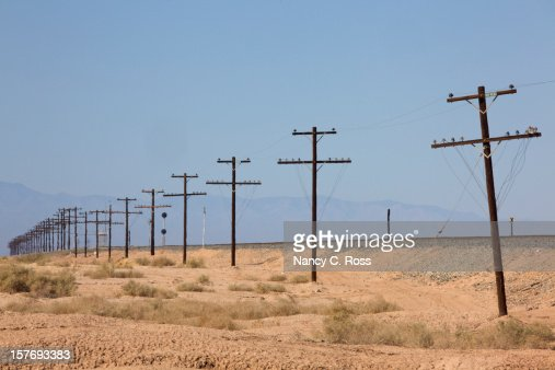 Electrical High Voltage Transmission Lines, Telephone Poles