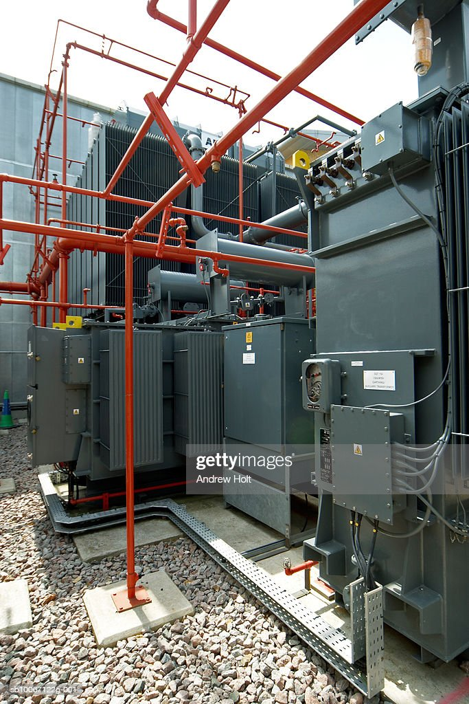 Electrical power transmission plant transformer systems in electricity substation