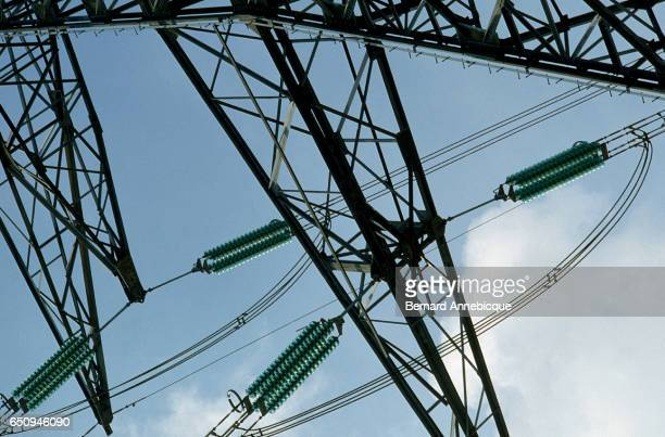 Electrical Pylons at Nuclear Power Plant