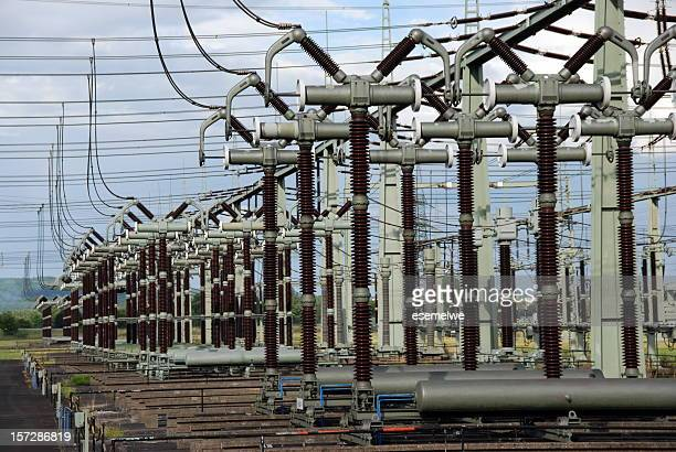Electrical substation in the daytime