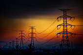 Electrical towers giant