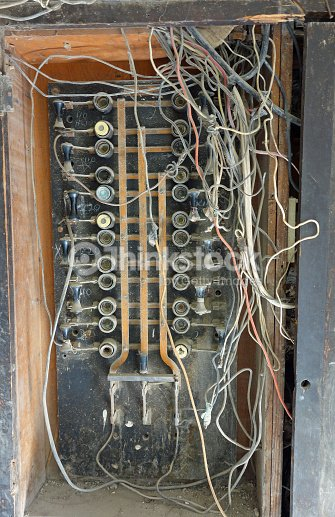 Electrical Wiring In An Old Apartment Building In Havana Stock Photo ...
