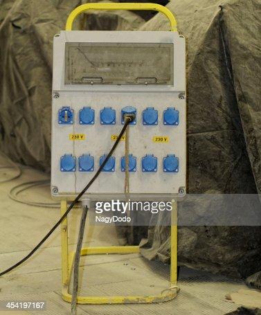 Distribuição de electricidade : Foto de stock