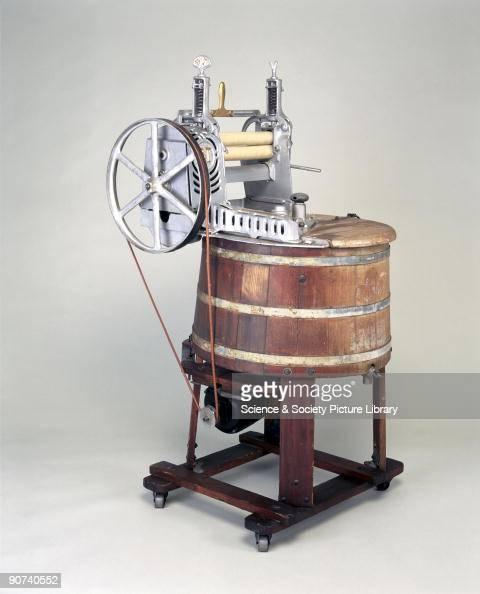 1920 Washing Machine ~ Wooden electrically driven domestic washing machine c