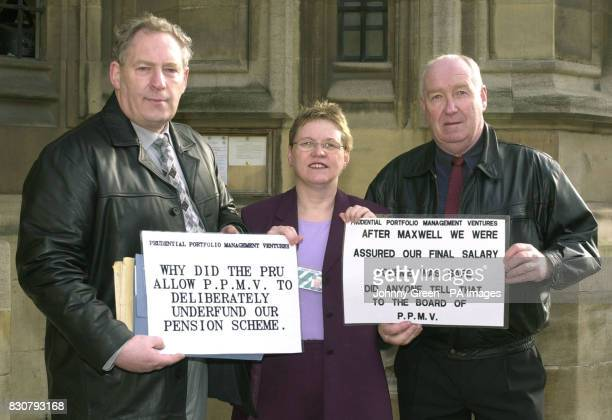 Electrician and Shop Steward Bill Kennedy and Willie Riggans a Convenor employees of United Engineering Forgings in Ayr with Sandra Osborne MP for...