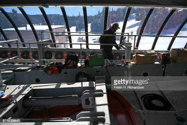 NEDERLAND CO NOVEMBER 9 Electrician Kyle Canham works on the interior of the new multimillion dollar Doppelmayr 6 person high speed lift at Eldora...
