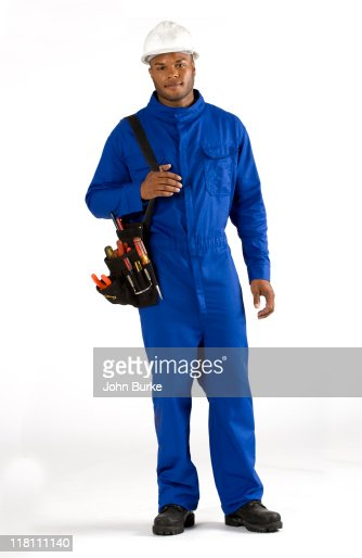 electrician or cable worker : Stock Photo