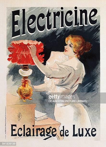 Electricine poster by Lucien Lefevre France 19th century