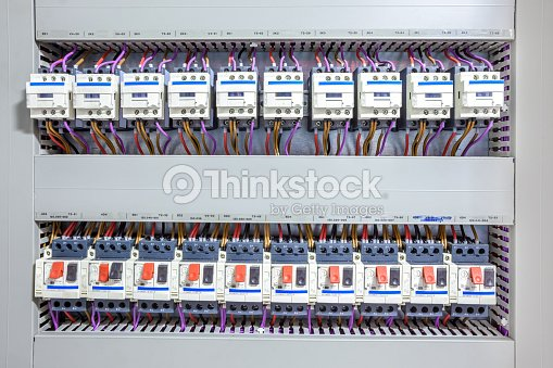 electricity fuse box : stock photo