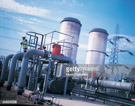 Electricity generator powered by landfill waste : Stock Photo