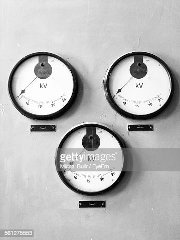 Electricity Meter Dial In Detail