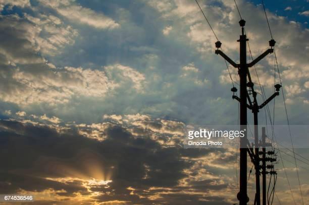 Electricity pole, india, asia