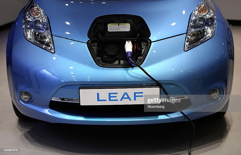 Nissan Motor Co Show The Leaf Electric Car Getty Images