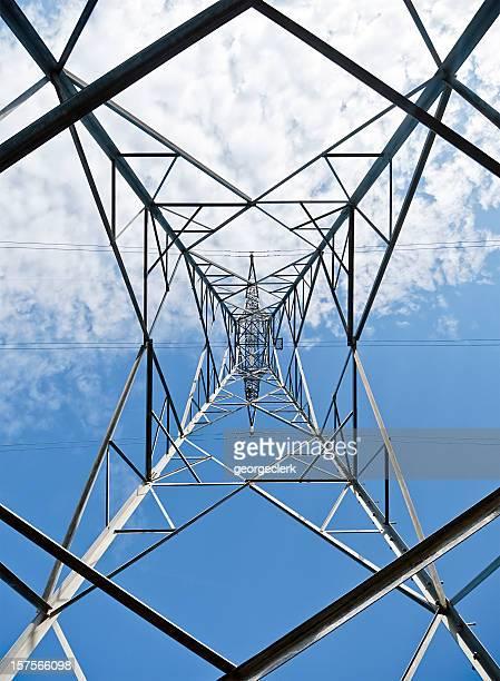 Electricity Pylon from Below