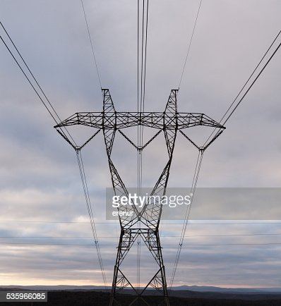 Electricity pylon : Stock Photo