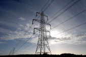 Electricity pylons are seen on October 17 2013 near Bristol England British Gas who supply energy to almost eight million households in the UK have...