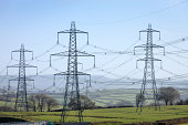 Electricity pylons of the National Grid in Wales