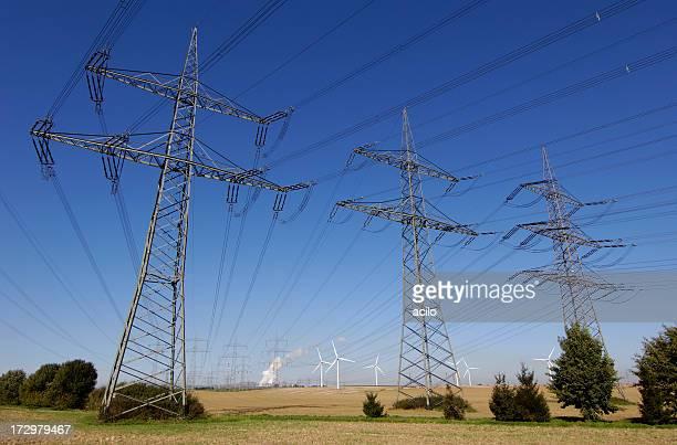 電力 pylons
