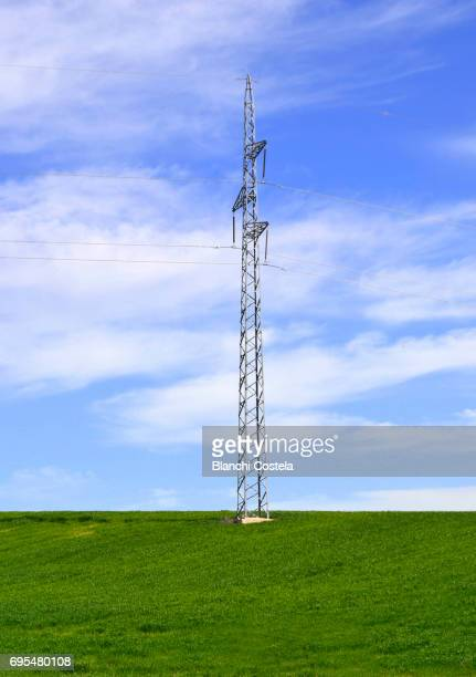 Electricity tower in the countryside