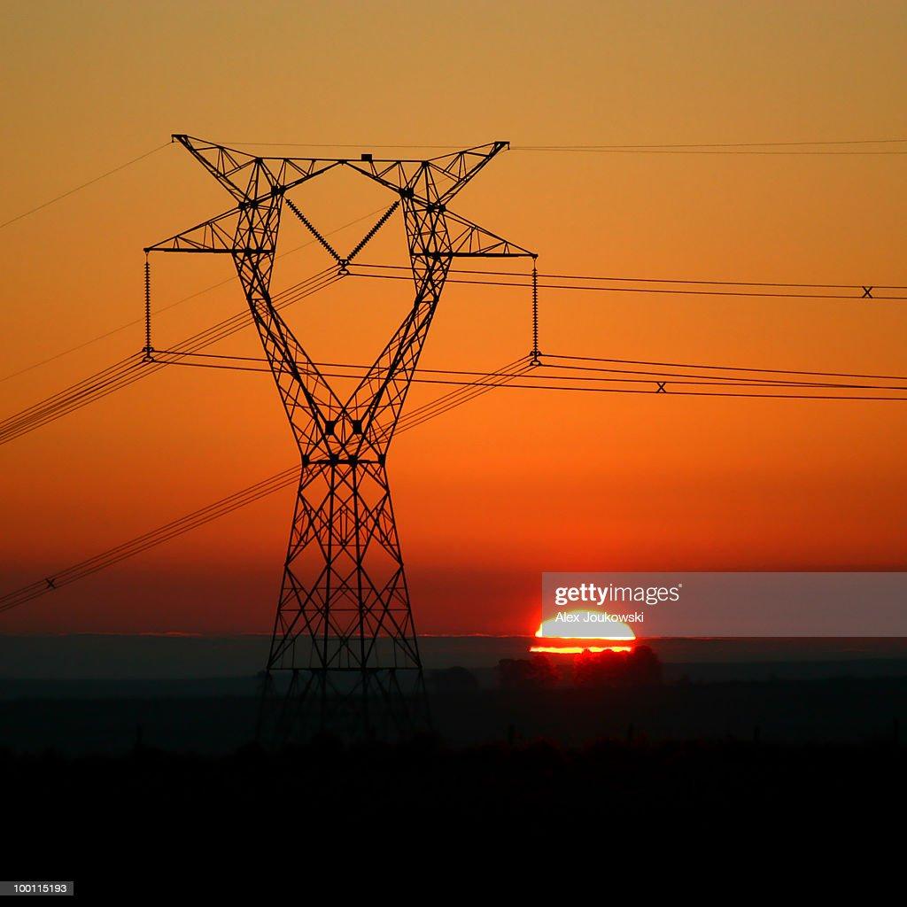 Electrifying sunset : Foto de stock