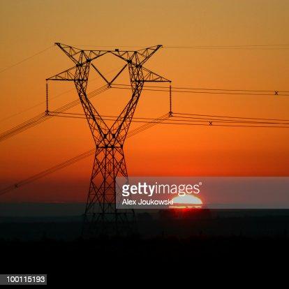 Electrifying sunset : Stock Photo