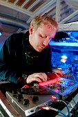 Electro artist / DJ Keith Tenniswood aka Radioactiveman Two lone Swordsmen at Ded Beat weekender UK 2000s