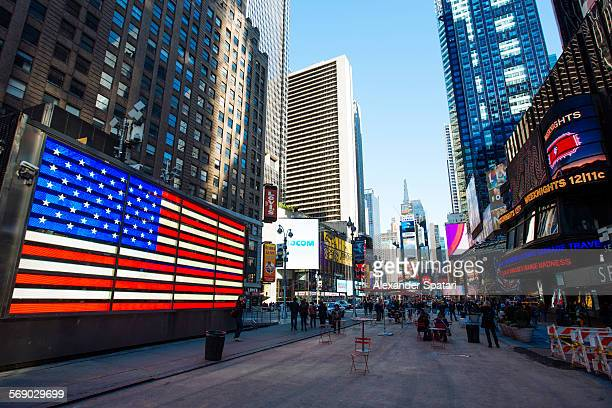 Electronic american flag at times square, New York