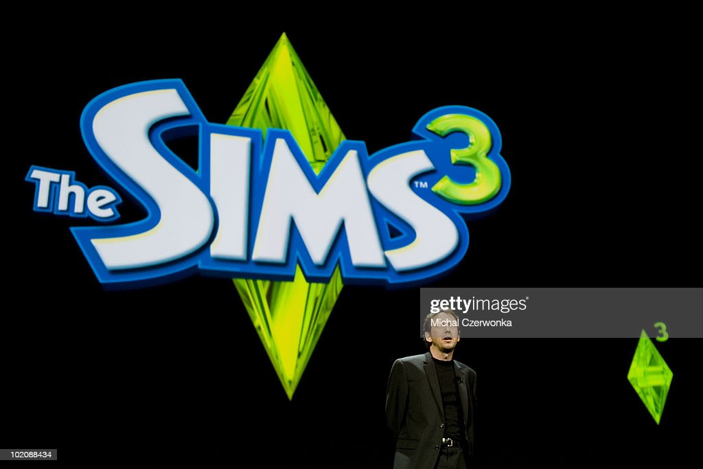 Electronic Arts Executive Producer Rod Humble introduces the new 'Sims 3' game at an EA press briefing ahead of the Electronic Entertainment Expo (E3) at the Orpheum Theater June 14, 2010 in Los Angeles, California. The annual video game trade conference and show at the Los Angeles Convention center runs June 15-17.