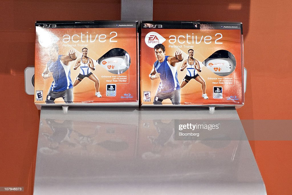 Electronic Arts Inc.'s (EA) Active 2 personal trainer game is displayed during the 2011 International Consumer Electronics Show (CES) in Las Vegas, Nevada, U.S., on Saturday, Jan. 8, 2011. The 2011 CES tradeshow features 2,500 global technology companies presenting consumer tech products and is expected to draw over 100,000 attendees. Photographer: Jacob Kepler/Bloomberg via Getty Images