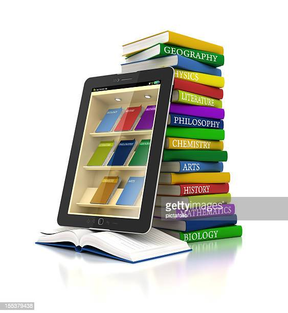 electronic books library in tablet