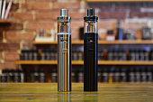 E-cigarette for vaping. Popular vape devices