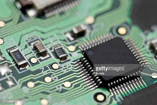 circuit électronique abstraite macro