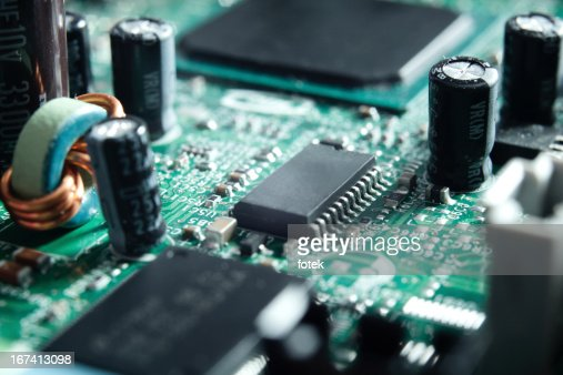 Electronic circuit board : Stock Photo