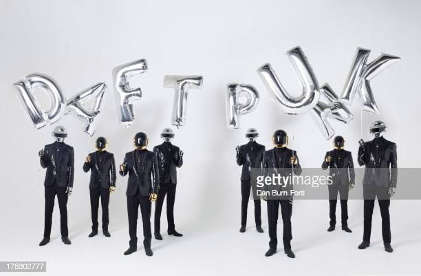 Electronic dance band Daft Punk are photographed for Esquire on March 26 2013 in London England