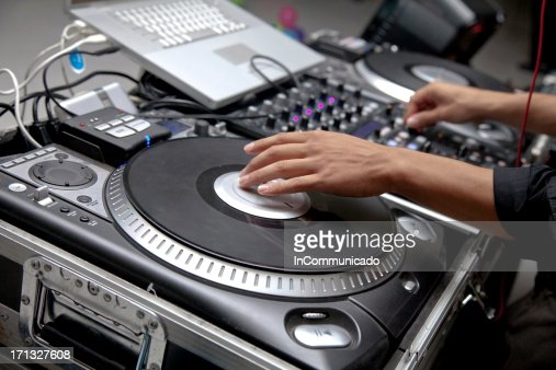 Electronic Sound Board : Electronic dj sound board stock photo getty images