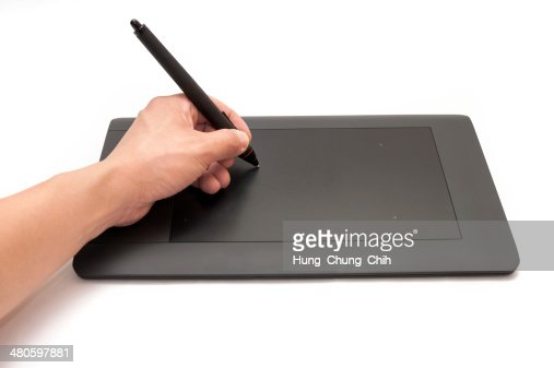 Electronic drawing tablet : Stock Photo