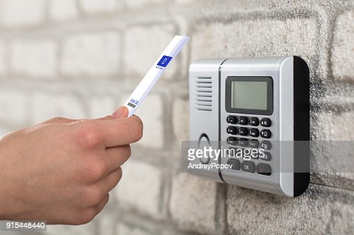 Electronic Key System To Lock And Unlock Door : Stock Photo
