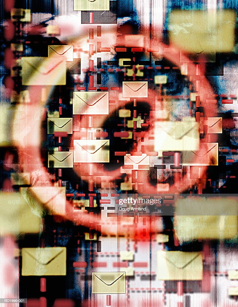 Electronic mail with @ symbol (Digital Composite) : Stock Photo